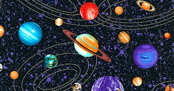Cosmos solar systems at cotton novelty for Solar system fabric