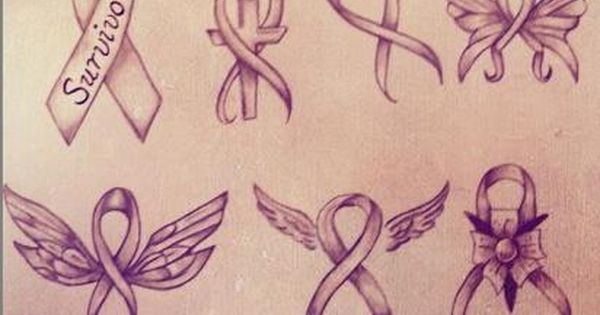 "Custom tattoo designer ""Chris The-TattooArtist Ferris"" ribbon designs Breast Cancer."
