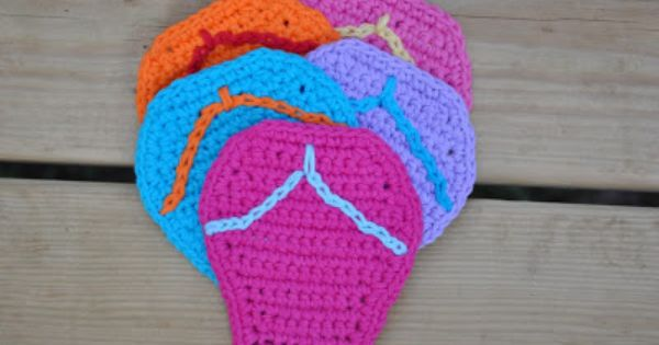 Knitting Pattern For Flop : free crochet flip flop coaster pattern Knitting and crochet Pinterest C...