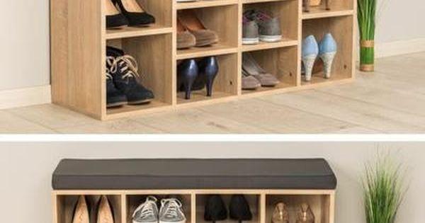 Meubles A Chaussures Etagere Armoire En Mdf Siege 103 5 Cm X 48 Cm X 30 Cm Marron Tectake Achat Vente Meuble Chaussure Meuble Rangement Placard Chaussure