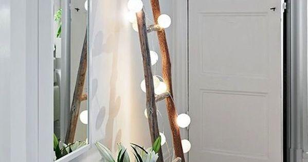 8 id es originales pour accrocher une guirlande chez soi belle cha nes de lumi res et fils. Black Bedroom Furniture Sets. Home Design Ideas