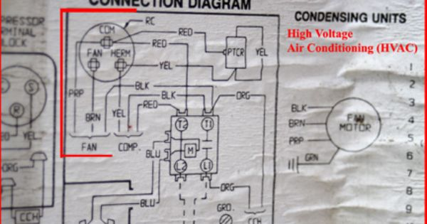 HVAC  Run Capacitor    Wiring       Diagram   jpg  432  288    tools   Pinterest