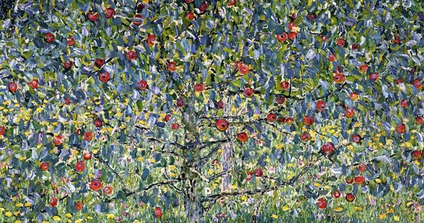 Gustav Klimt - Apple Tree I, 1912, oil on canvas ♥ Inspirations,