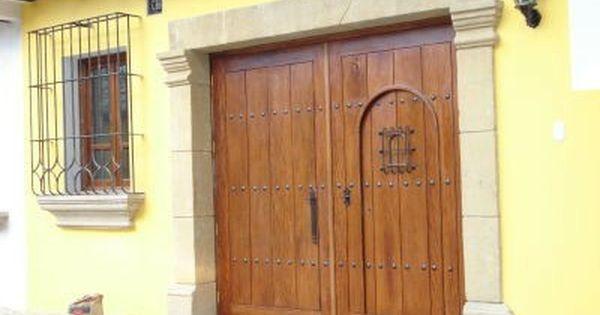 Portones de madera portones pinterest puertas de for Puertas de madera para garage