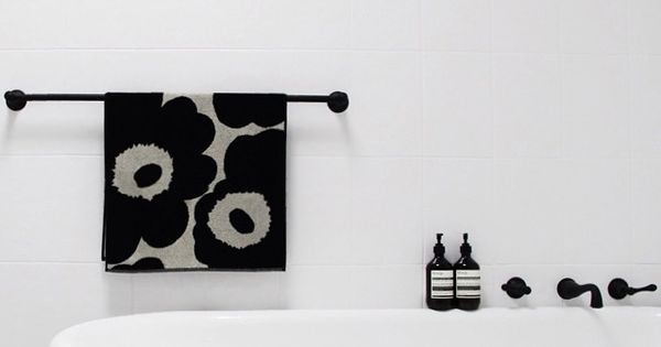 bathroom black taps  interior : DESIGN  Pinterest  욕실