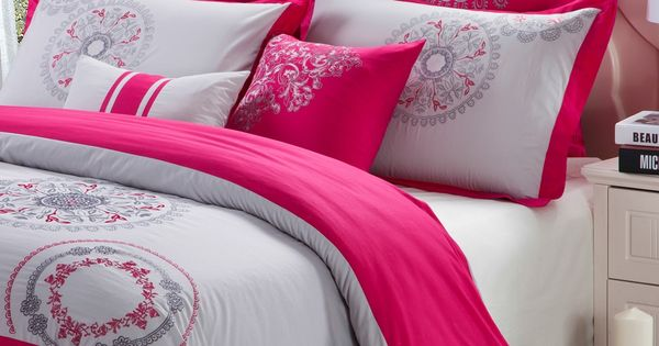 Raspberry Bedroom Ideas: Raspberry/Grey On @HauteLook