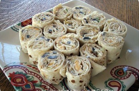 Tortilla Pinwheels - I added an envelope of taco seasoning. They were