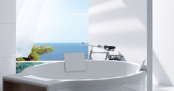 Unique design circular tub by roca