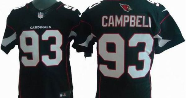 Jerseys NFL Online - Nike Arizona Cardinals #93 Calais Campbell black Elite jerseys ...