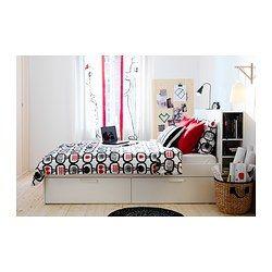 Brimnes Estructura De Cama Con Almacenaje Blanco 160x200 Cm Muebles Dormitorio Ikea Cama Con Almacenaje Decoracion De Habitacion Juvenil