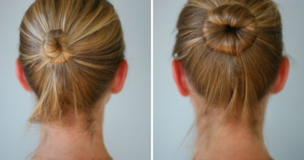 sock bun | fine hair | hair style