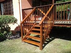 Unique Building Outdoor Stairs 8 How To Build Outdoor Wooden   Outdoor Wooden Steps Design   Exterior   Compact Space Outdoor   Railing   Rustic   Storage Underneath