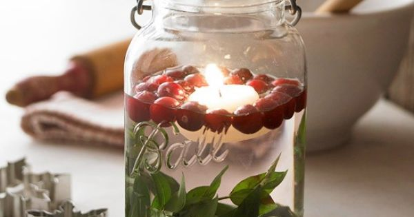 A Deconstructed Holiday Decor Idea – Mason Jar Candles | Musings