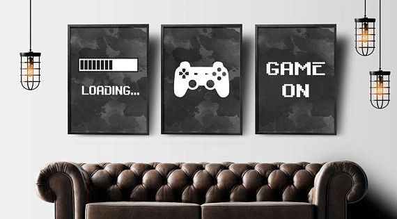 Gaming Boys Bedroom Prints Games Wall Art Gamer Gifts Gaming Poster A3 A4 #03