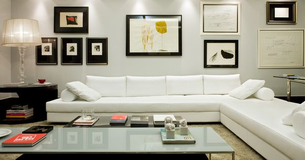 sof em l para sala de estar sala de tv e home theater tv walls living rooms and decorating