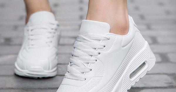 Wiosna Kobiet Przyczynowe Buty Sportowe Oddychajace Trenerow Rozmiar 35 40 Rozowy Plaskim Z Buty Damskie La Black And White Shoes Womens Sneakers Best Sneakers