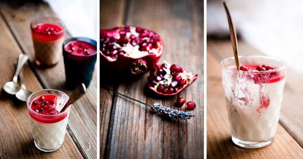 Panna cotta, Pomegranates and Lavender on Pinterest