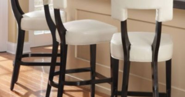 Abby Leather Bar Stool Grandin Road 24 Counter Height 219 00 30 Bar Height 229 00 Brown Red Or Leather Bar Stools Modern Bar Stools Kitchen Stools