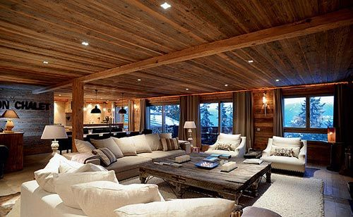 Warme gezellige woonkamer van chalet wonen pinterest for Warme woonkamer inrichting