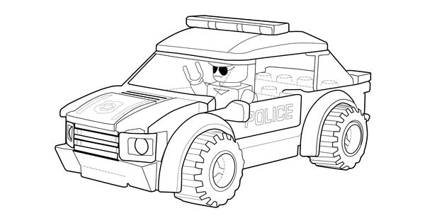 police car coloring page lego printable free lego coloring page projects to try pinterest. Black Bedroom Furniture Sets. Home Design Ideas