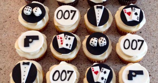 James Bond Cupcakes Cakes By Vicki Pinterest James