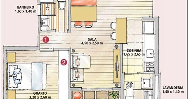 Apartamentos Pequenos Decorados e Otimizados