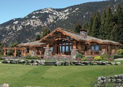 Runner Up Best Single Level Log Home Plan Precisioncraft Log Timber Homes Timber House Log Home Floor Plans River House