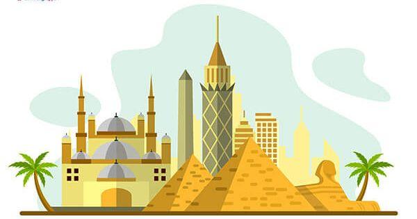 رسم عن السياحة فى مصر رسومات عن مصر جميلة بالعربي نتعلم Taj Mahal Landmarks Home Decor