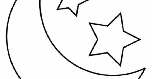 Child Moon And Stars Coloring Pages Printable