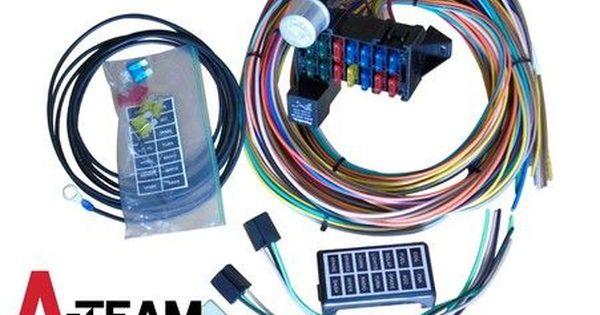14 Circuit Basic Wire Kit Small Wiring Harness Rat Street Rod Sand