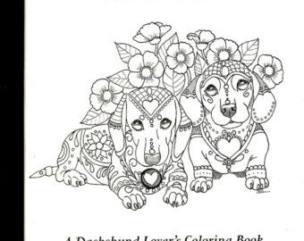 Art Of Dachshund Coloring Book Volume No 2 Van Artbyeddy Op Etsy Dog Coloring Book Coloring Books Dog Coloring Page