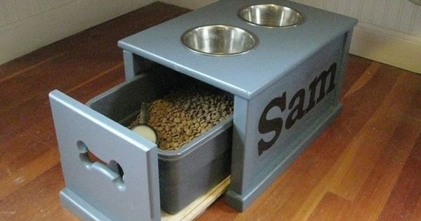 Dog food storage! Love this so much more than my ugly plastic