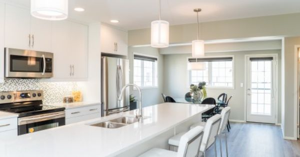 New Bluestem Display Suite Open Streetside Ca White Kitchen