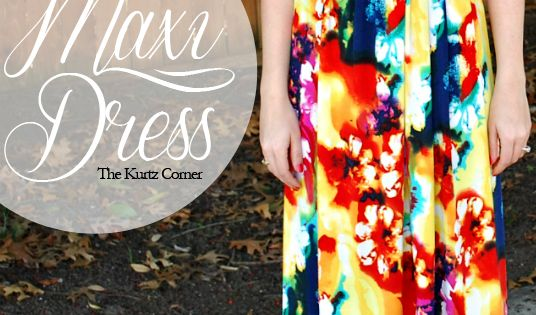 DIY Maxi Dress with step by step tutorial! So cute!