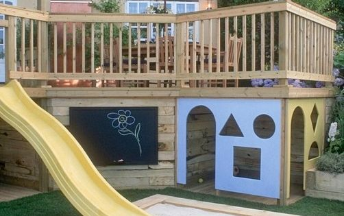Some day ... playhouse built under porch! Great idea for extra space
