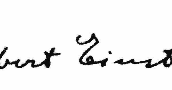 albert einstein signature