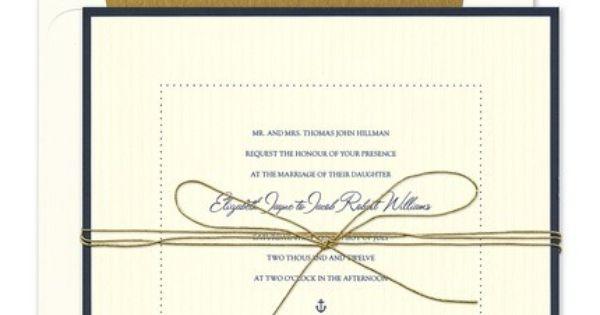 Checkerboard Wedding Invitations: Nautical Or New England Wedding Dockside Invitation