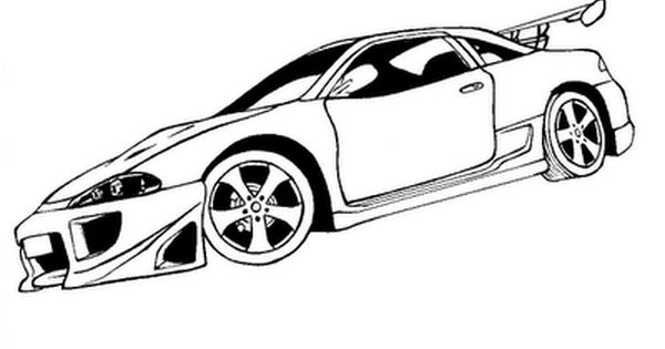 Eclipse Con Imagenes Carro Dibujo Dibujos Para Colorear Dibujos