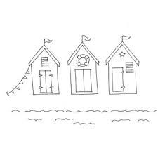 Image Result For Beach Huts Templates Beach Hut Applique Pattern Applique Templates Free