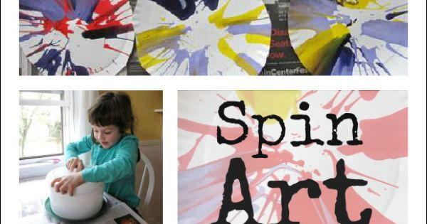 Spin Painting - An Awesome Kids Art Activity! Like the idea of