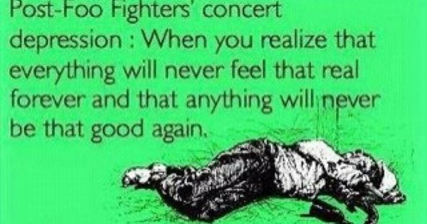 And Though I Ve Never Been To A Foo Concert I Already Know This
