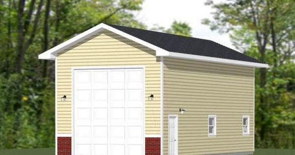 18x40 1 Rv Garage 18x40g3a 720 Sq Ft Excellent Floor Plans Building A Garage Garage Style Garage Plans