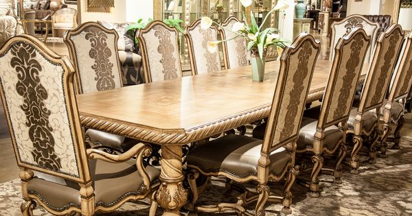 Marge Carson Inc Segovia 12 Piece Dining Set With