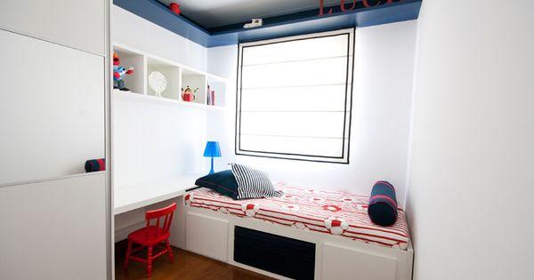 Menino branco azul vermelho madeira quartos de - Fusteria manel ...