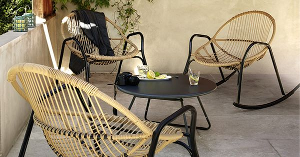 Salon De Jardin En M Tal Collection Cuba Rocking Chair Nova Castorama London Home Pinterest