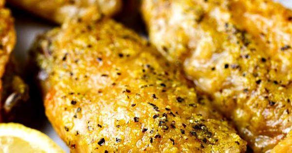 Crispy baked lemon pepper chicken wings amazing for J j fish chicken milwaukee wi