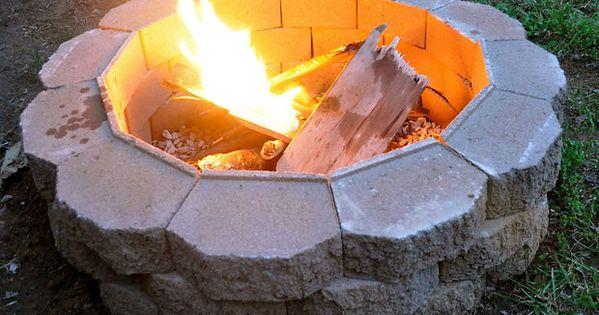 Fire pit 620 462 ladrillos pinterest for Accesorios jardineria