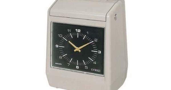 Amano Ex 9500 Automatic Time Recorder Time Recorder Quartz