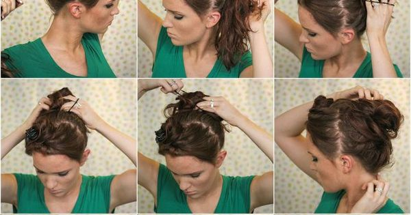 Super Easy Knotted Bun Updo and Simple Bun Hairstyle Tutorials .. that