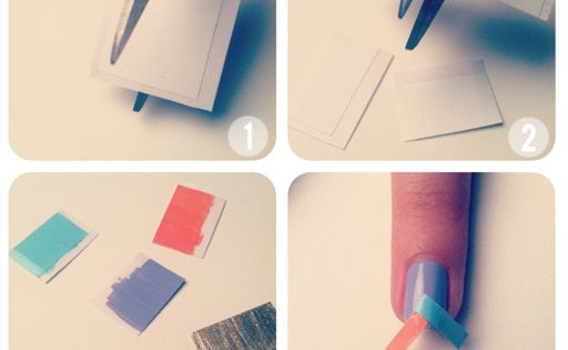Herringbone nail tutorial Nails Art